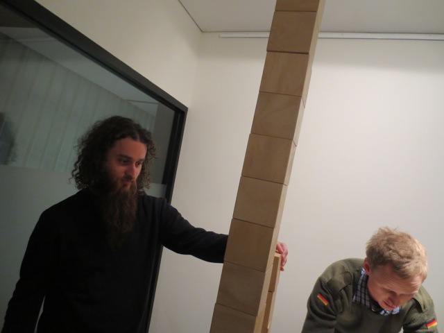 Brendan and Olly play with work by Frank Maconachie