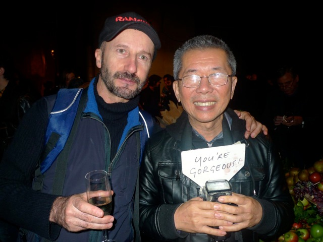 William Yang and a friend