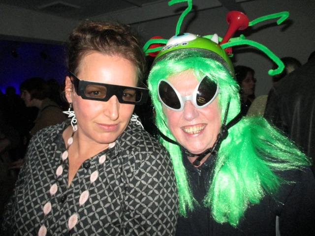 Erica Seccombe and our favourite Martian Robyn Archer