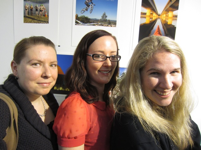Heather, Erica Hurrell and Kate Travis at Photoaccess