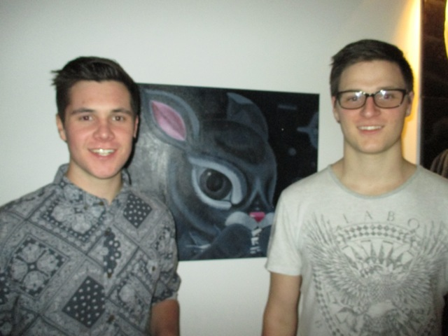Darren and Brad with rabbit and slight blur