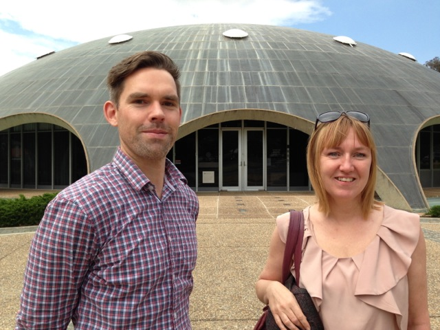Danny, Mariette and the iconic Sine Dome (Martian Embassy)