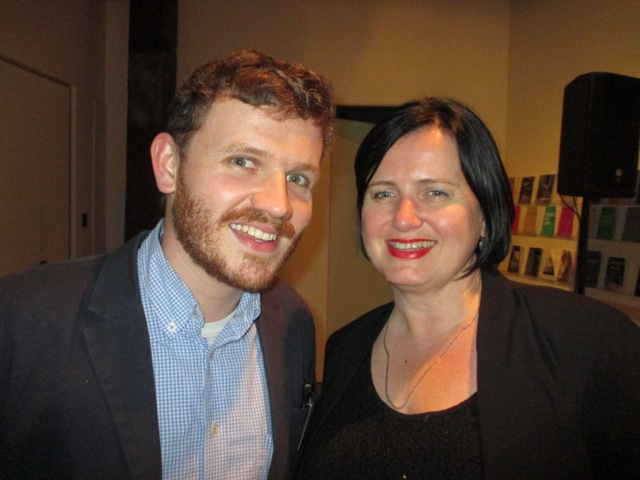 Nick Garner (Das Superpaper) and Julie Lomax (Director Visual Arts Australia Councila)