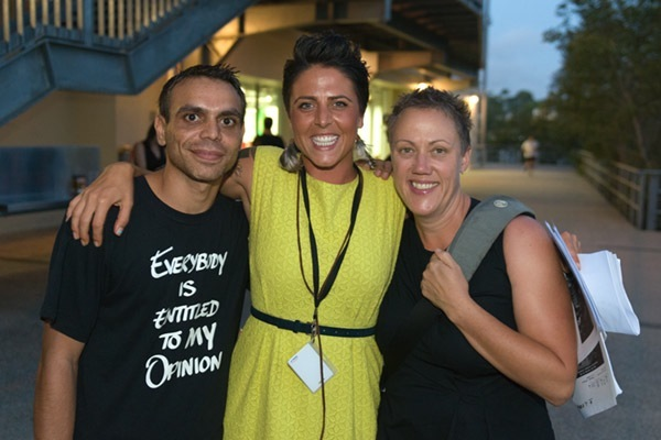 Moses Gibson, Merindah Donnelly and Brenda Croft