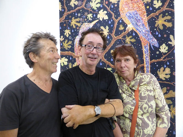 Ken Bolton David Broker and Jeanette with work by Fred Tomaselli