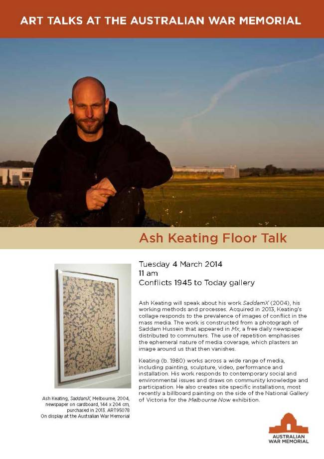 ASH KEATING ART TALK