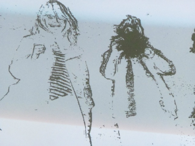 Agnieszka and David Broker as a computer generated drawing