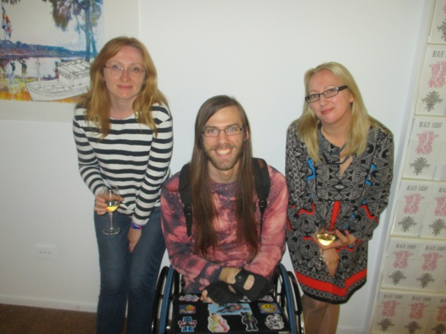 Agnieszka, Daniel Savage and Katy Mutton at CCAS
