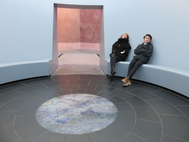 Caitlin Franzmann and Michael at 'Within without' 2010 James Turrell