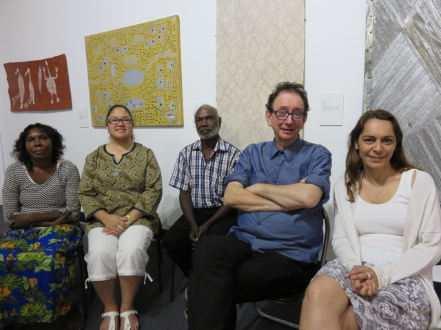 Tina Baum, Garrawan Wanambi, David Broker and Clo Bullen