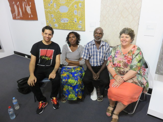 Tony Albert, Manina Gumana, Garrawan Wanambi and Nici Cumpston