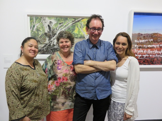 Tina Baum, Nici Cumpston, David Broker and Clotilde Bullen