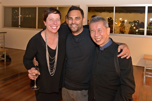 Collette Brennan, Michael Cook and William Yang
