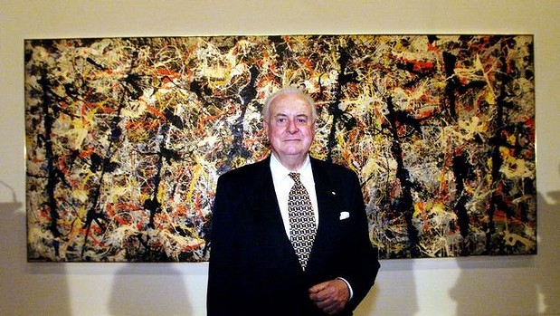 Gough Whitlam and Blue Poles, Jackson Pollock (1952) National Gallery of Australia