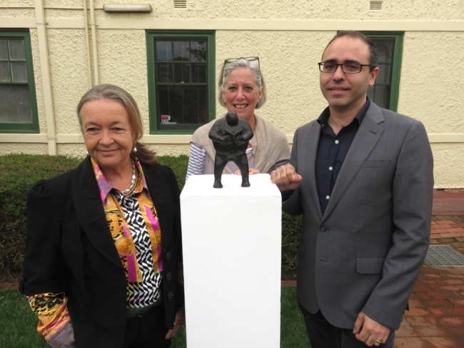 Joy Burch (ACT Minsister fro the Arts), Suzie Campbell (Chair Ainslie+Gorman Art Centre) and Joseph Falsone (Director Ainslie+Gorman Art Centre)