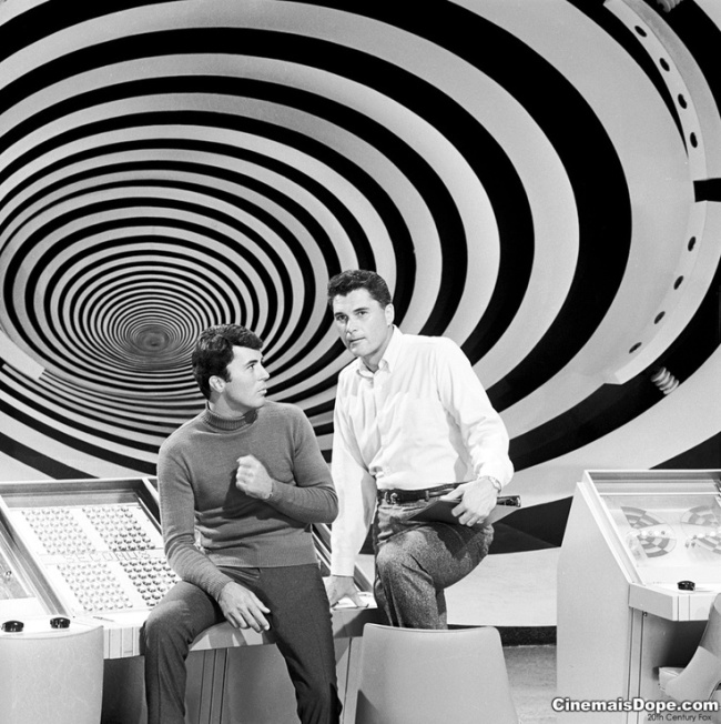 Dr. Tony Newman and Dr. Douglas Phillips at The Time Tunnel 1966