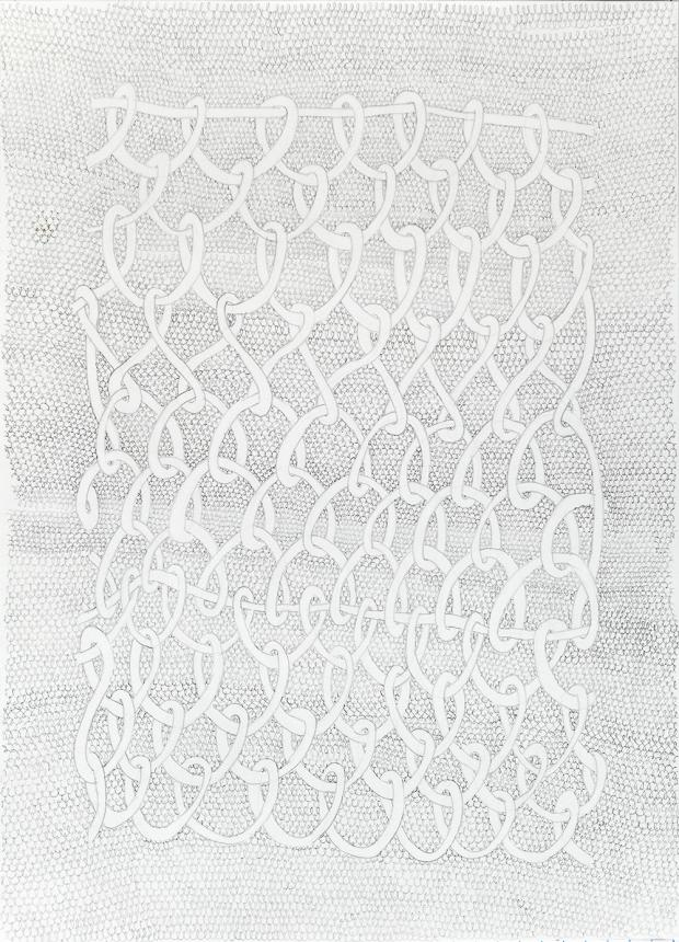 That which connects us, 2016, graphite on paper; image courtesy of the artist