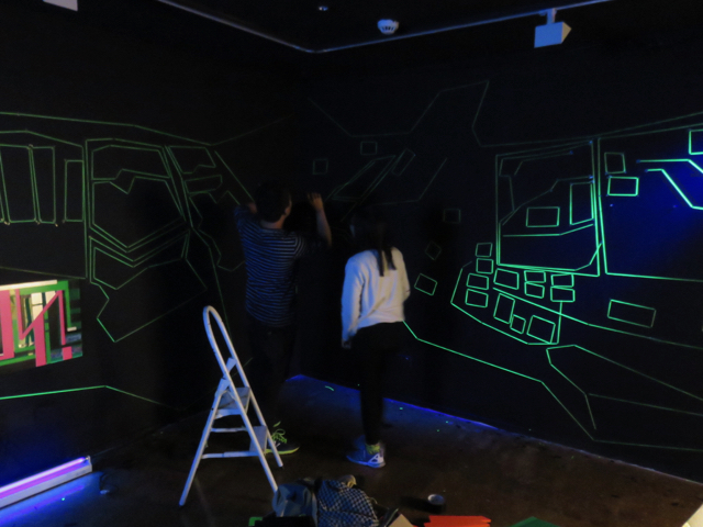 Anthony and Duong installing
